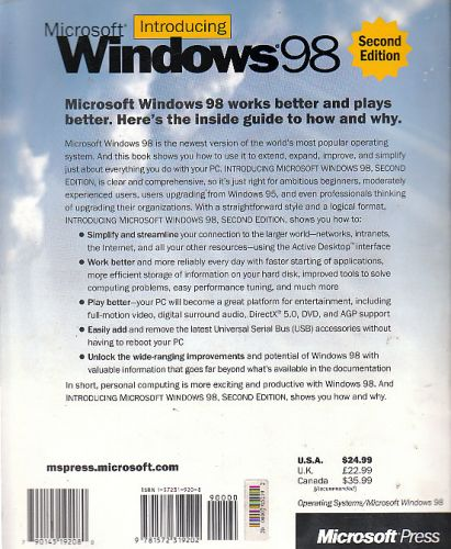 introducing microsoft windows 98 essay The woods hole oceanographic institution is a private, independent, not-for- profit corporation dedicated to research and higher education at the frontiers of.